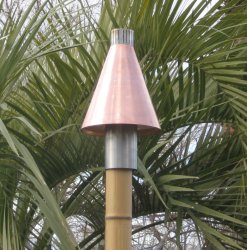 Automated Copper Cone Gas Tiki Torch Head