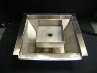 Stainless Steel Square Fire/Water Pot