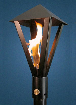Gas light style torch permanent mount outdoor fire designs gas light style torch permanent mount mozeypictures Gallery