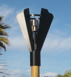 Automated Fin Style Gas Tiki Torch Head