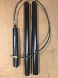 3 Piece Tiki Torch Pole with rubber gas line