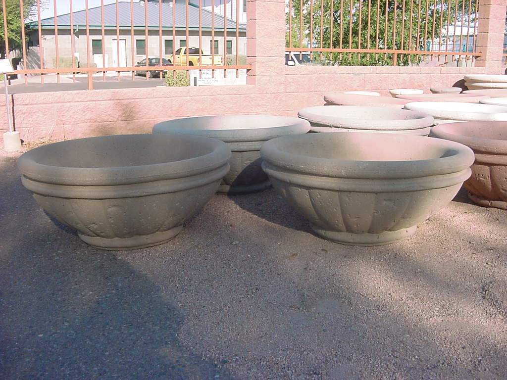 Tuscany Series Concrete Fire Bowl Outdoor Fire Designs