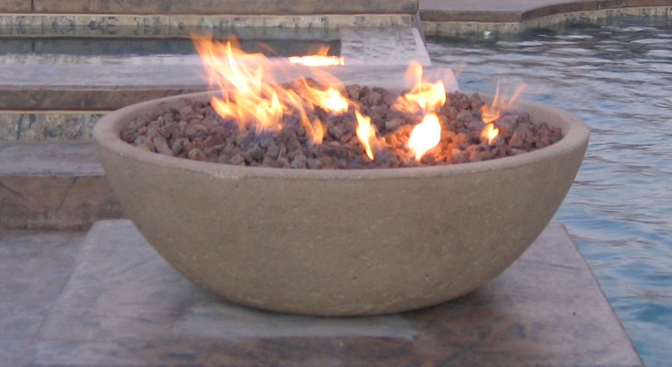 Wok Series Concrete Fire Bowl Outdoor Fire Designs