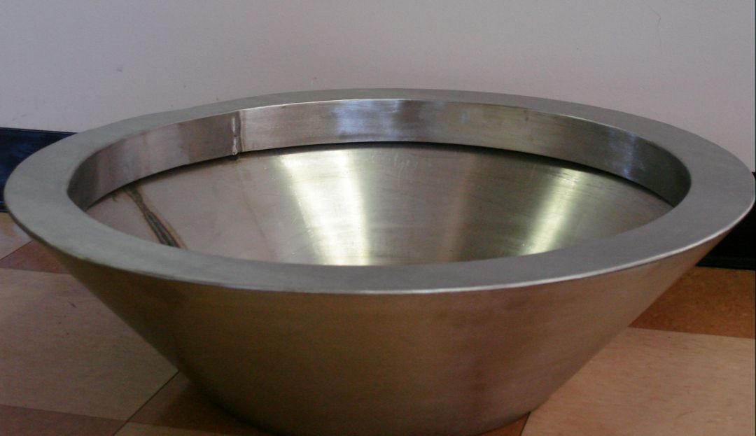 Round Stainless Steel Fire Bowl : Outdoor Fire Designs